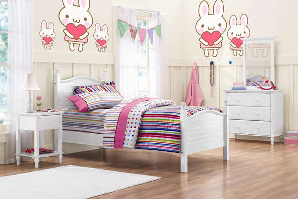 Wall Decals in Japanese Kawaii Style