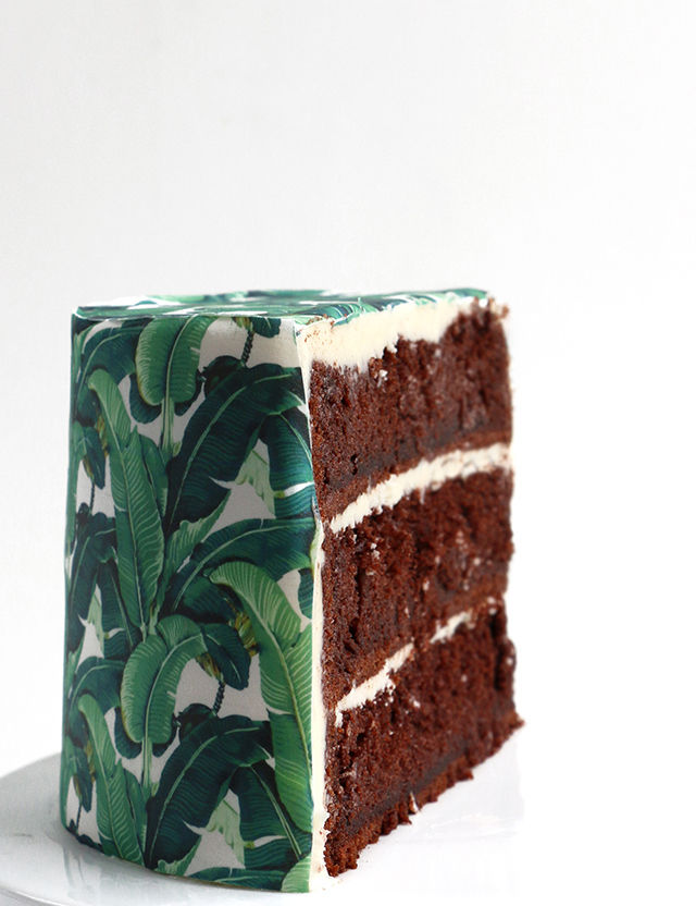 DIY Wallpaper Cakes