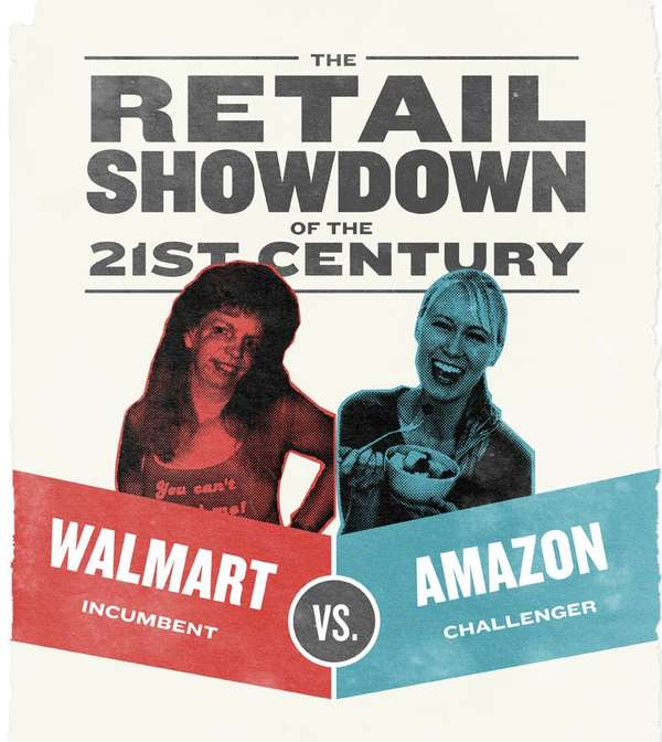 WalMart vs Amazon Infographic