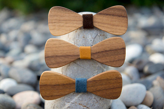 Walnut Bow Tie Accessories