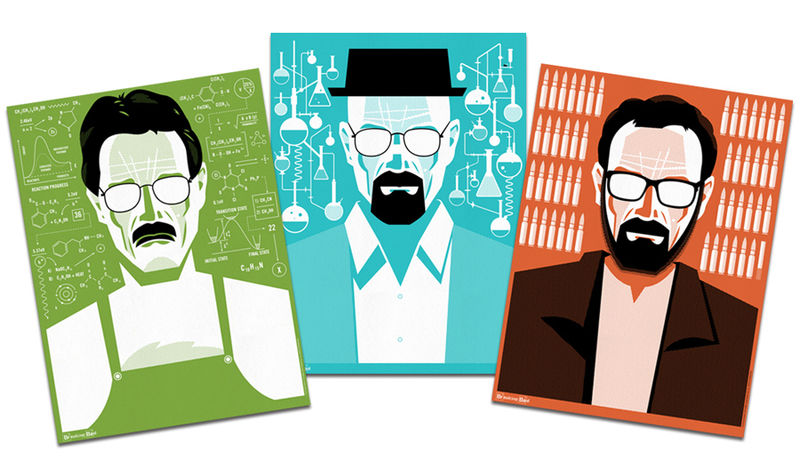 Graphic TV Character Illustrations
