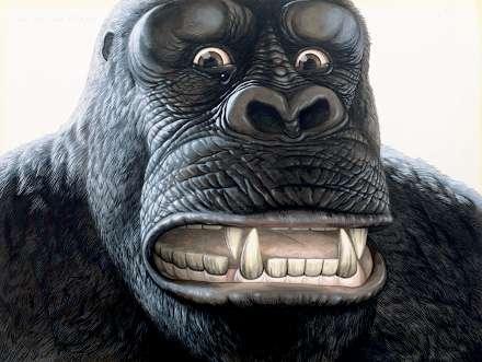 Tramatized King Kong Watercolors