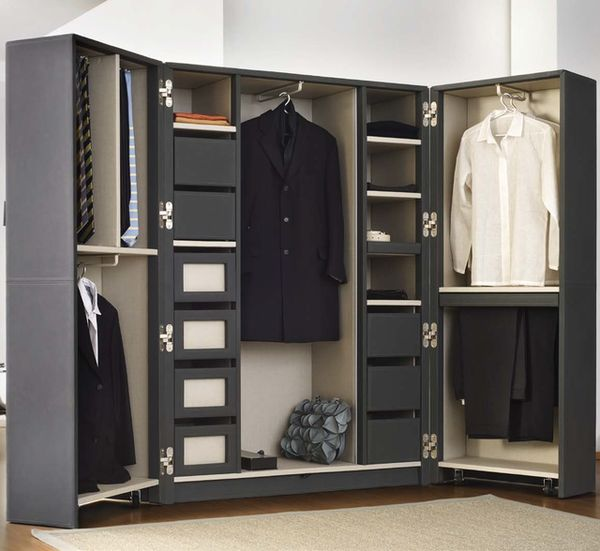 Elegant Leather Wardrobe Units