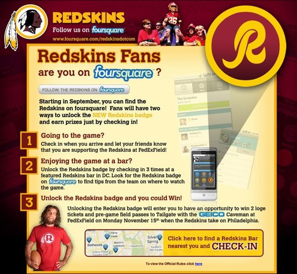 Social Check-In NFL Promos
