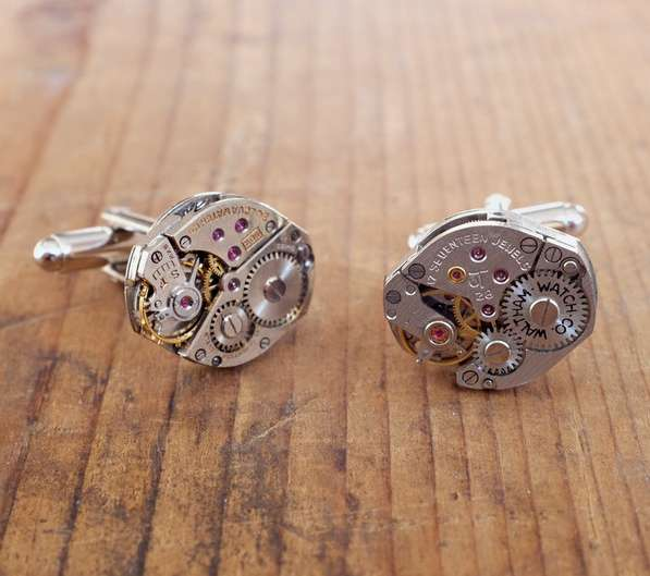 Functional Watch Movement Cufflinks