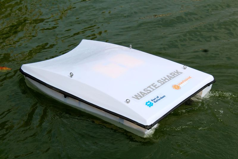 Garbage-Collecting Water Drones