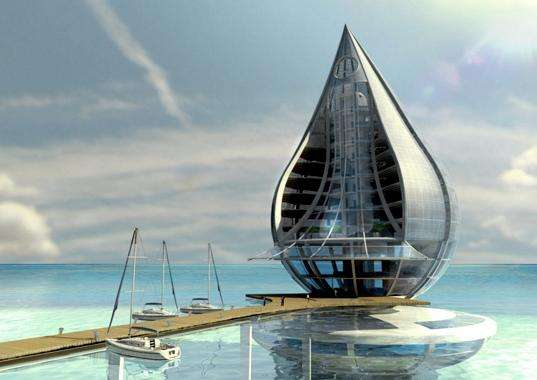 Droplet architecture hi tech resort design especially for for Architecture high tech