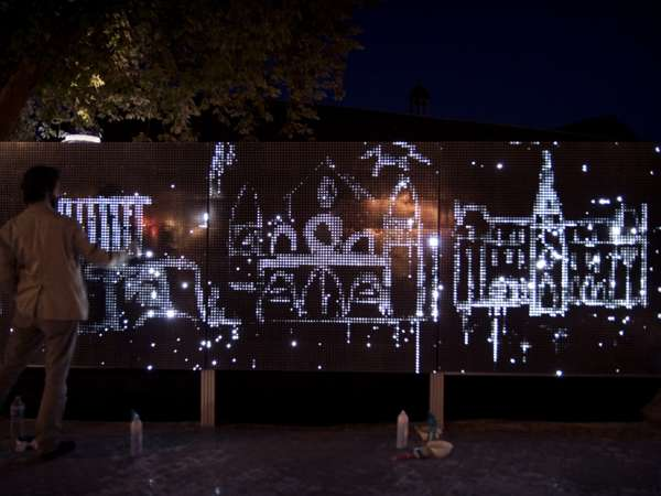 Water Light Graffiti Installation