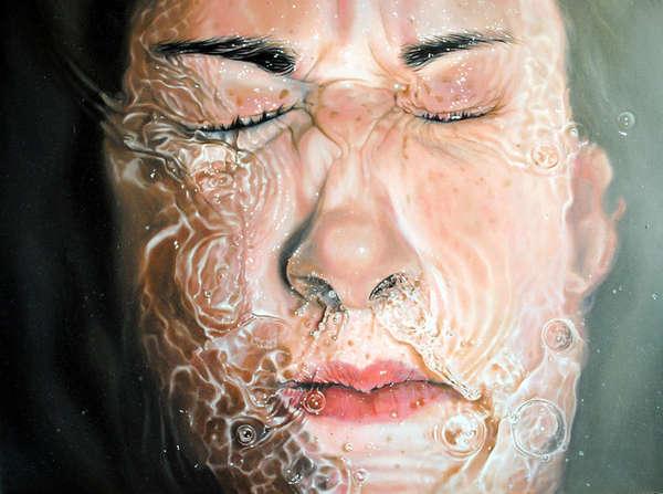 Hyper-Realistic Water Paintings