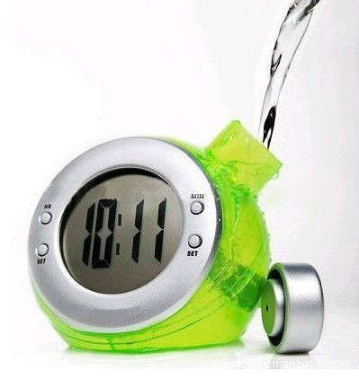 water powered alarm clock