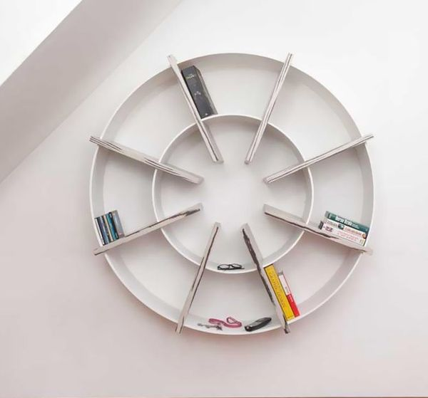 Water Wheel-Infused Bookcases