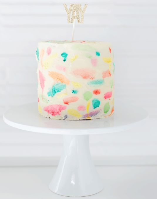 Colorful Cake Decor