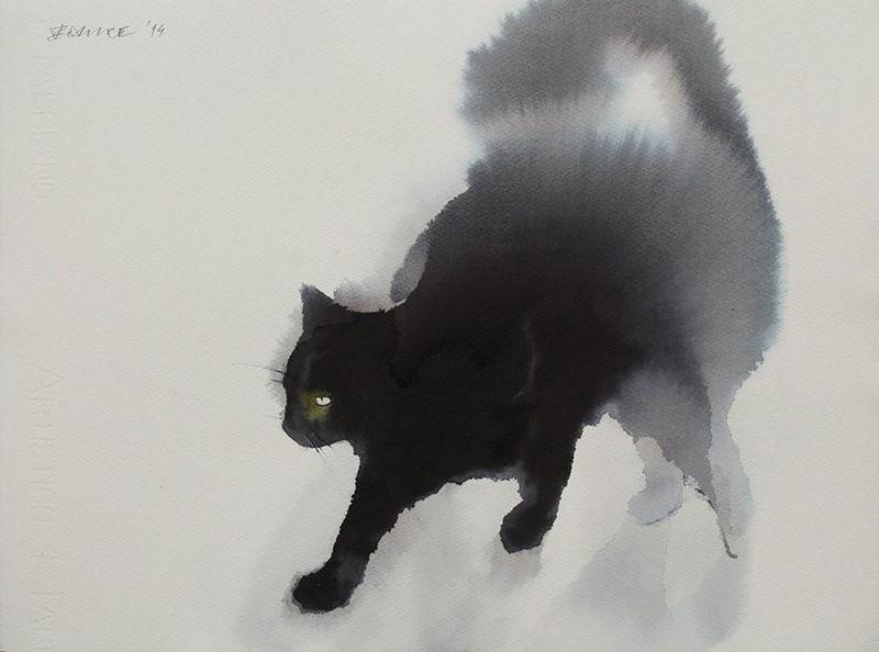 Watercolor Cat Paintings