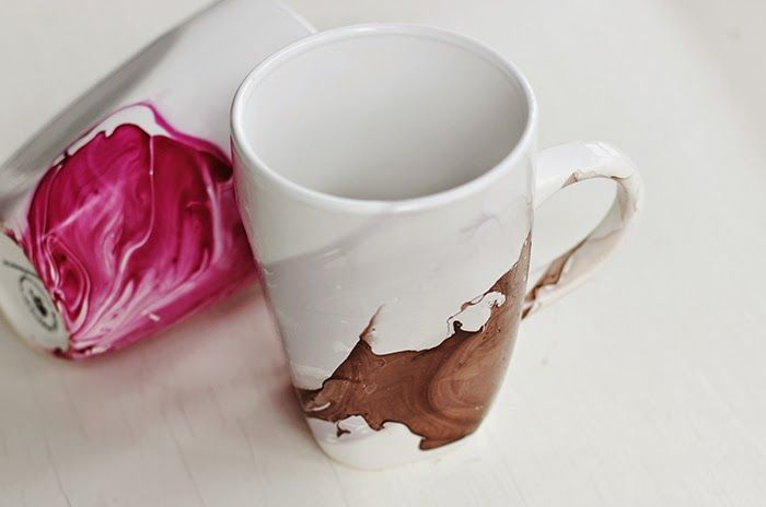 DIY Watercolor Mugs : Watercolor Mug