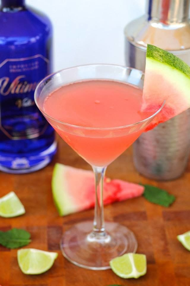Watermelon Martinis : watermelon martini