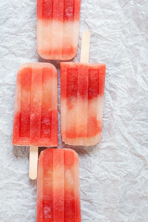 Boozy Watermelon Popsicles