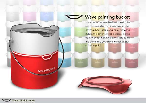 Wave Paint Bucket