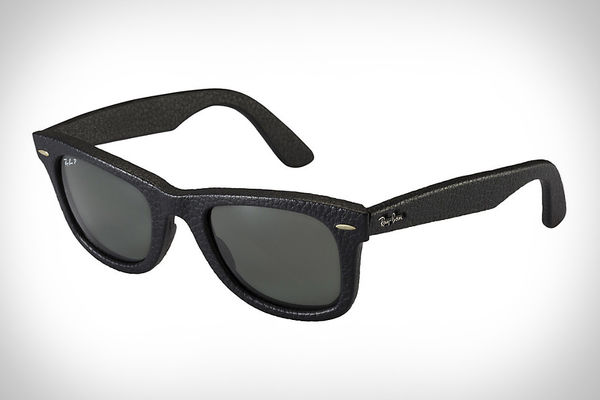 Wayfarer Leather Sunglasses