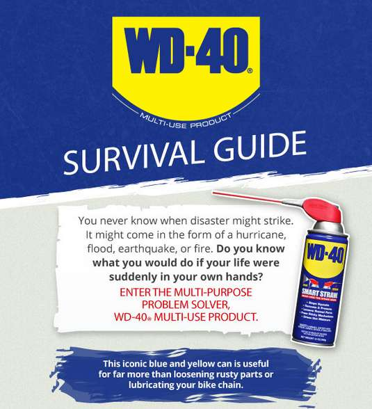 wd 40 survival guide infographic