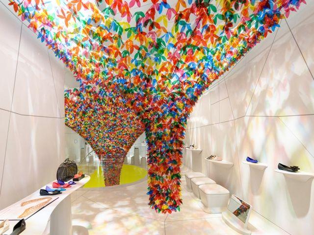 Kaleidosopic Sandal Shop Art