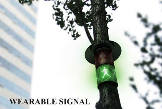 wearable signal walking sign