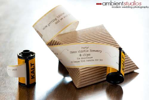 Faux Film Wedding Invitations