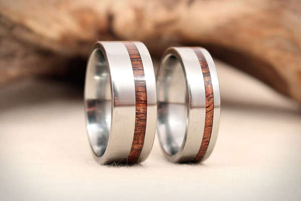 Titanium Timber Accessories Wedgewood Rings