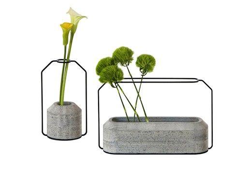 Framed Concrete Planters