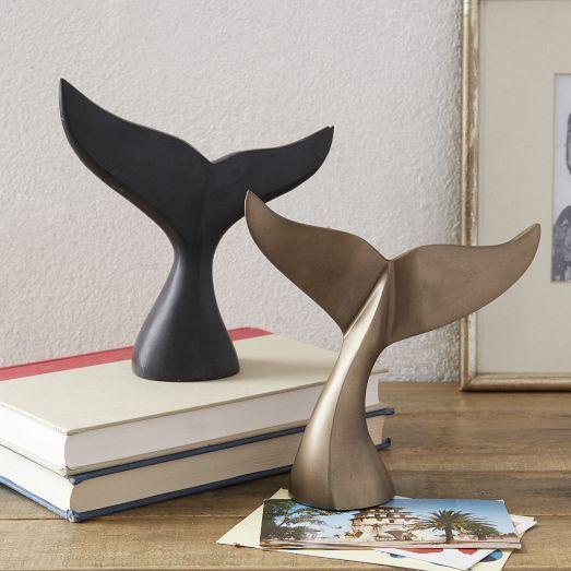 Nautical Sea Creature Decor : Whale Tail Sculptures