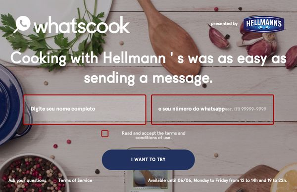 Messaging App Cooking Lessons