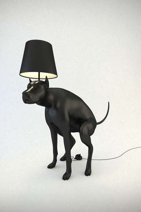 Misbehaving Dog Lamps