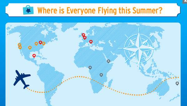 Where is Everyone Flying this Summer infographic