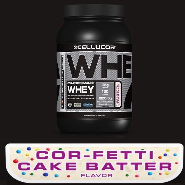 Cake Batter Protein Shakes : whey protein powder