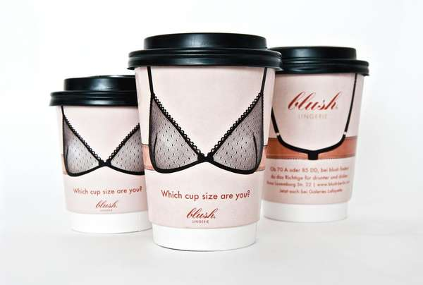 Coffee Container Lingerie Ads