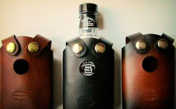 Leather Alcohol Pouches