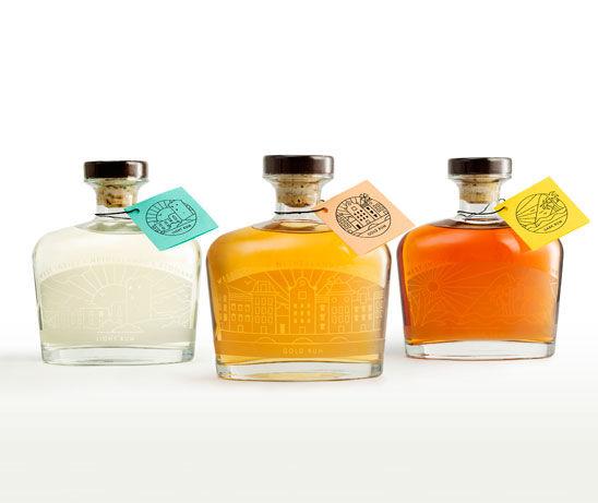 Co-Branded Whiskey Bottles