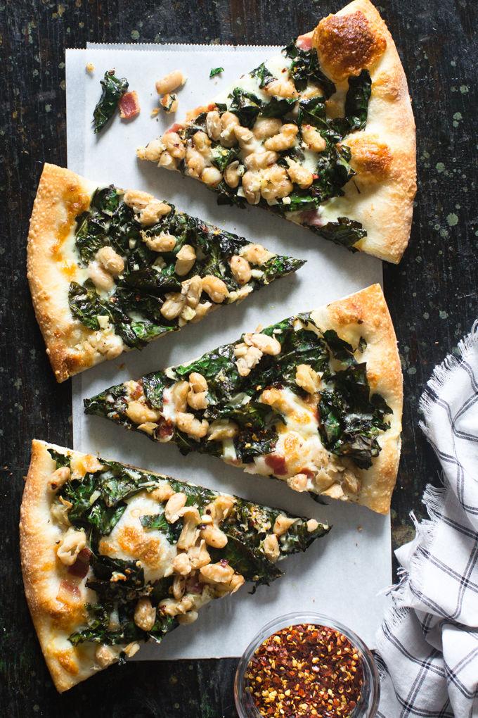 Green White Bean Pizzas