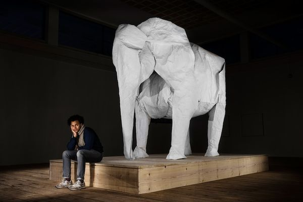 Gigantic Origami Sculptures