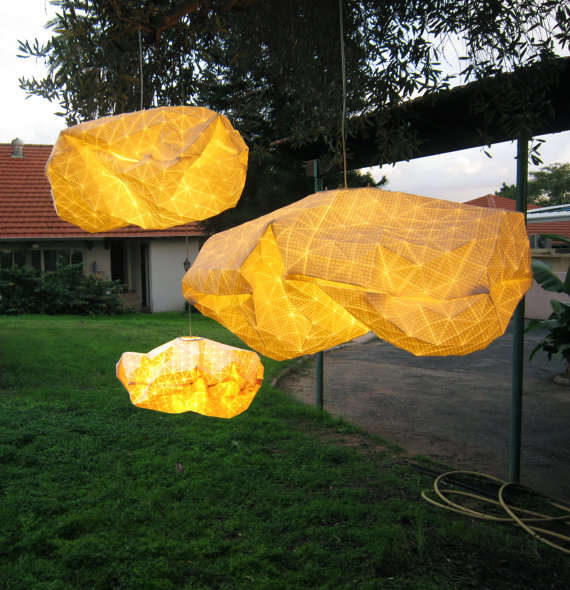 Crumpled Cloud Lanterns