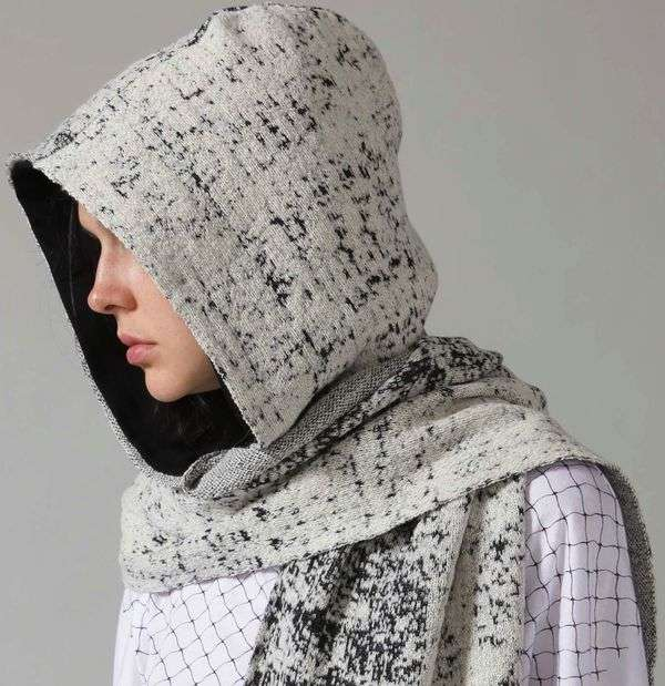Whiteout Hooded Scarf