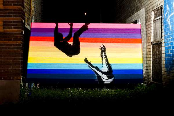 Vibrant Yarn Graffiti