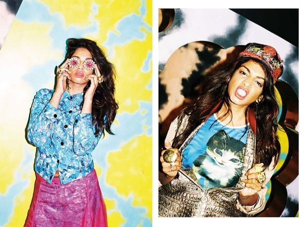 Crazily Colorful Celeb Editorials