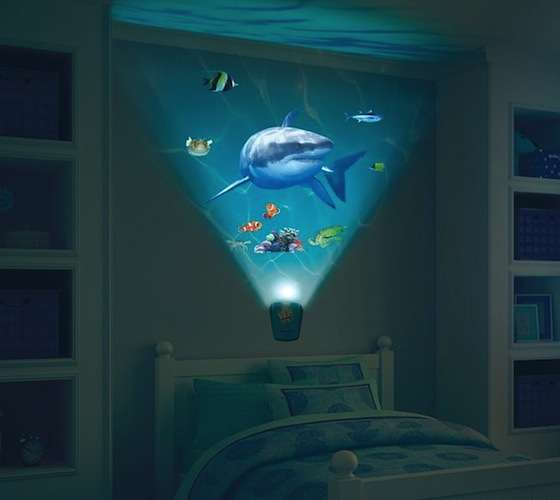 Aquatic Nighttime Projectors Wild Walls Shark Encounter