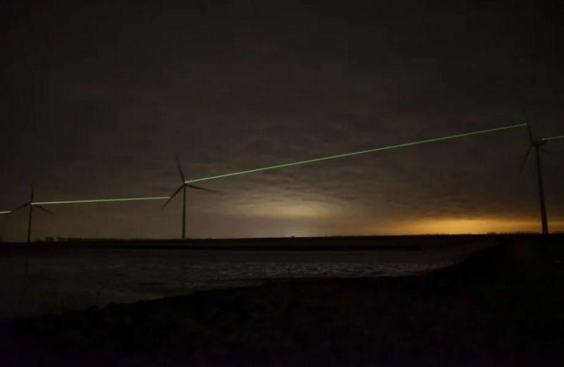 Laser Windmill Installations