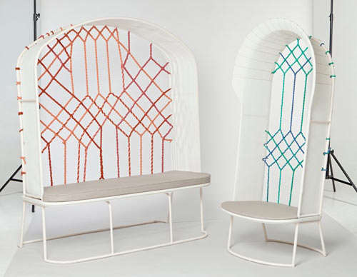 Stained Glass-Inspired Seating