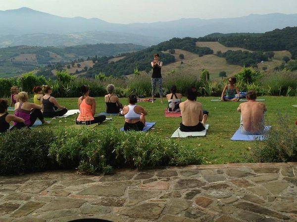 Indulgent fitness retreats wine and yoga retreat for Yoga and wine retreat