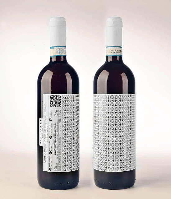 Achromatic Patterned Wine Bottles