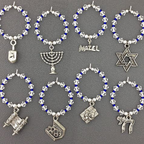 Hanukkah-Themed Wine Charms