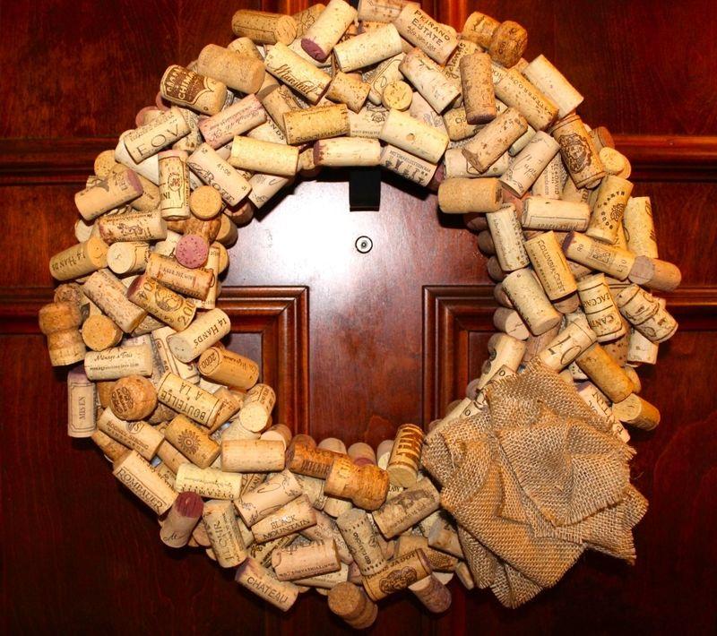 Wine Cork Wreaths