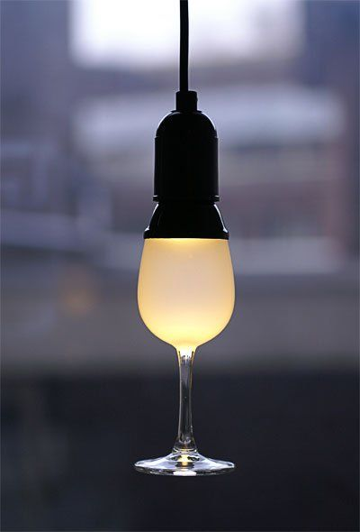 Floating Wine Glass Lighting